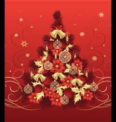 Christmas tree design vector image