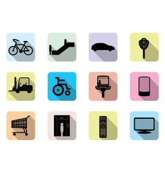 Facilities icons vector