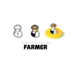 Farmer icon in different style vector image