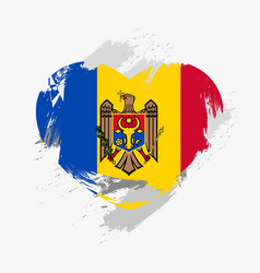flag of moldova vector image