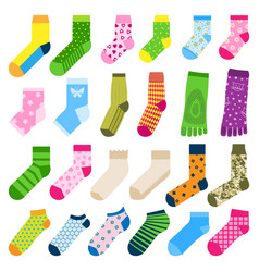 Foot toe socks fashion clothes accessory design vector