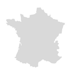 france map icon paris french silhouette vector image