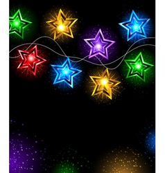 garland of stars vector image