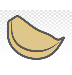Garlic cloves flat colours icon for apps vector