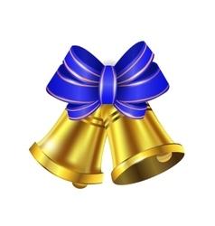 Gold Christmas bells vector