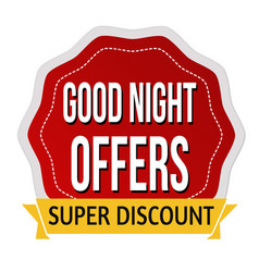 Good night offers sticker or label vector