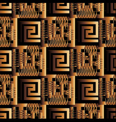Greek ancient 3d seamless pattern abstract vector