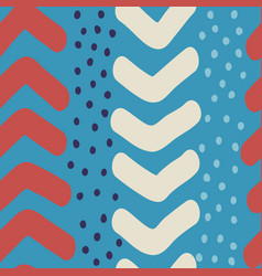 hand drawn chevron and dots seamless vector image