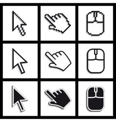 hands cursors vector image