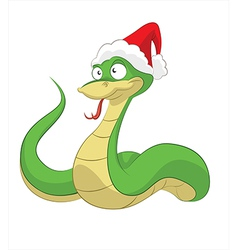 Happy new snake vector image