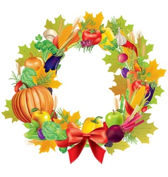 Harvest wreath vector