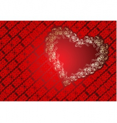 heart frame background vector image