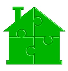 house from puzzle vector image vector image