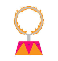 Isolated circus fire ring icon vector