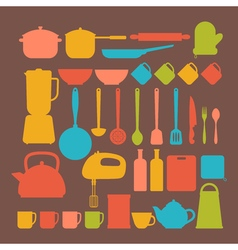 Kitchen appliances Cooking tools and kitchenware vector