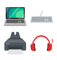 laptop and device sign vector image