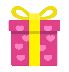love present flat icon valentines day vector image