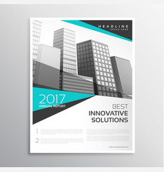 modern white and blue brochure annual report vector image