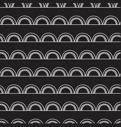 monochrome doodle arches seamless pattern vector image