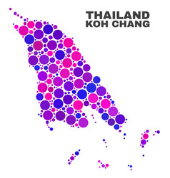 Mosaic koh chang map of round items vector