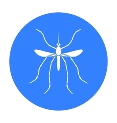 Mosquito icon in black style isolated on white vector image