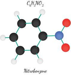 Nitrobenzene C6H5NO2 molecule vector image