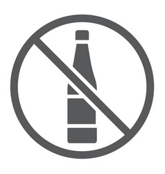 no alcohol glyph icon drink and warning alcohol vector image