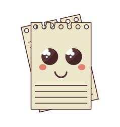 Notebook school comic character vector