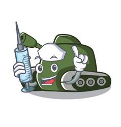 Nurse tank character cartoon style vector