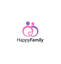 People symbol for happy family logo vector