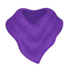 Purple arafatka for cowboyscarves and shawls vector