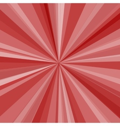 Red rays background for your bright beams design vector image