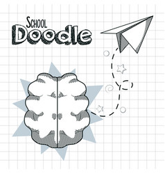 School supplies doodle vector