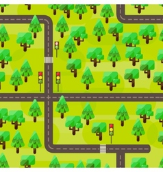 Seamles map in a flat style vector