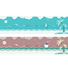 seascape banners vector image