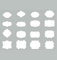 Set blank retro labels scalable and editable vector