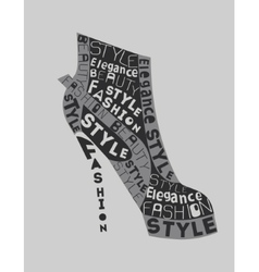 Shoe from words vector image
