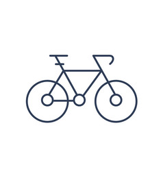 simple symbol bicycle or bike isolated on white vector image
