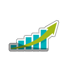 statistics bars growing vector image
