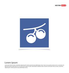 summer grape icon - blue photo frame vector image