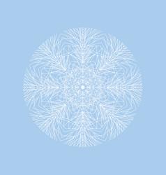 tender big modern style one snowflake vector image