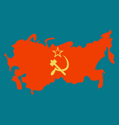 The territory of the soviet union isolated on a vector