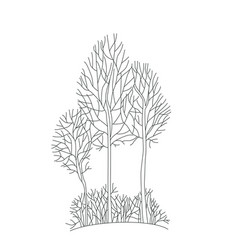 Tree sketch architect hand drawing element vector