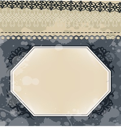 Vintage frame on blot background vector image