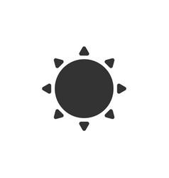 Weather sun icon vector