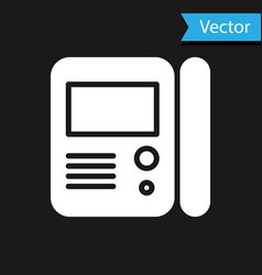 White house intercom system icon isolated on black vector