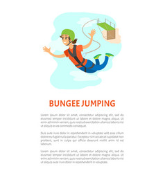 woman falling from bridge bungee jumping vector image