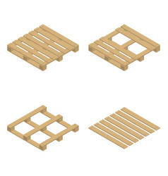wooden pallet isometric vector image
