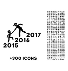 Years Guys Help Icon vector image