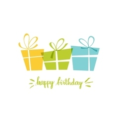 Birthday card gift card gifts ideal for vector image